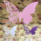 50x Pearlescent Laser Cut Butterfly Wedding Table Name Place Card for Wine glass