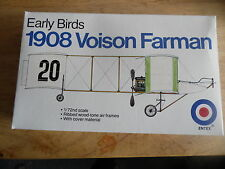 VINTAGE Entex KIT 8520a 1/72 1908 voison FARMAN (correttamente Birds emissione)