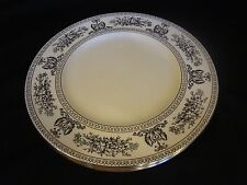 Wedgwood China - Columbia Black  - Set of 4 Dinner Plates - Black and White