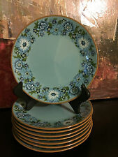 Taylor Smith Taylor Vintage 1968 AZURA China Salad Plate Turquoise  Cobalt Blue
