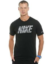 Nike Dri-Blend Camo Graphic Dri-Fit Men's Athletic Cut Running T Shirt Size S