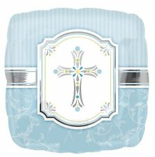 First Communion Foil Balloon Holy Communion Party Room BLUE Decoration 113846