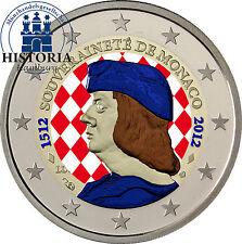 Monaco 2 EURO MONETA COMMEMORATIVA 2012 BFR. Lucien I. 500 anni indipendenza in colore