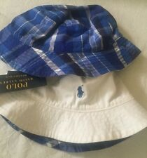polo ralph lauren bucket  Hat Boys Reversible  toddler kids 4-7 Years Old
