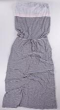 GAP GREY WHITE PINK STRIPE DROP WAIST SLEEVELESS SUMMER/BEACH MAXI DRESS 2XL NWT