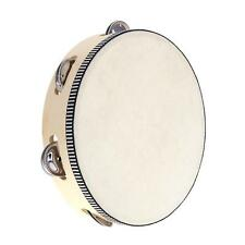 """8"""" Tambourine Drum Bell Metal Jingles Percussion Toy for Kids Games US Shipping"""