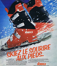 PUBLICITE ADVERTISING 064 1976 NORDICA chaussures de ski