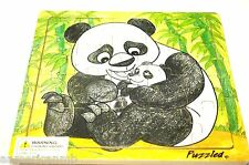 """PANDA 20 pc Jigsaw Wood Puzzle 8""""x8"""" Educational Toy Wooden Woodcrafted Game"""