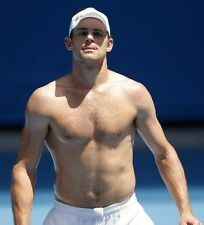 ANDY RODDICK UNSIGNED PHOTO - 7562 - TOPLESS!!!!!