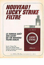 PUBLICITE ADVERTISING  1966   LUCKY STRIKE  cigarettes