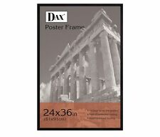 DAX 24 x 36 Black Flat Face Wood Poster Frame w clear plastic window DAX286036X
