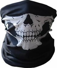 US Skull Half Face Bandana Skeleton Ski Motorcycle Biker Paintball Mask Scarf