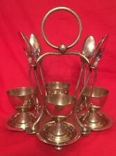 Antique Silver Plated Egg Cup Cruet By Hukin & Heath c.1900