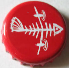 FLYING FISH Beer CROWN, Bottle CAP with Fish Skeleton, Somerdale, NEW JERSEY