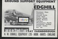 AIR INDIA INTERNATIONAL 1966 EDGHILL GROUND SUPPORT EQUIPMENT B707 AD