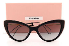 Brand New Miu Miu Sunglasses MU 12R 12RS U6F3M1 Black/Grey Women 100% Authentic