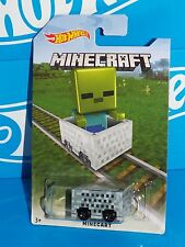 Hot Wheels 2016 MINECRAFT Minecart Special Release Board ZOMBIE Target Exclusive