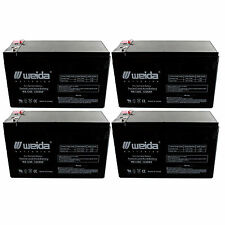 NEW 4pc 12V 8Ah SLA Battery WB1280F2 For UB1280, WKA12-8F, PS1280 FAST USA SHIP