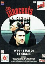PUBLICITE ADVERTISING 126  1996   les Innocents concert à la Cigale &  radio NRJ