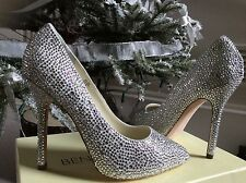 £380 BENJAMIN ADAMS SILVER OCASION BRIDAL CRYSTAL  SHOES 38