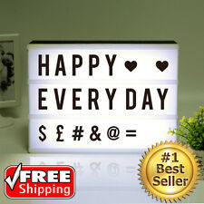 Cinematic Light Box Cinema LED Letter Lamp A4 House Birthday Party Wedding Decor