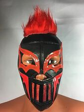PUNK KAHOZ W/RED HAIR!! LUCHADOR/WRESTLER MASK!! A MUST HAVE!!AWESOME DESIGN!!