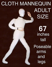 Poseable Bendable Heavy Canvas Display Mannequin Dummy Deluxe Prop Doll DD170220