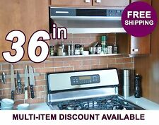 "36in ultraLEDGE Stainless Steel Over-the-Range Shelf / Spice Rack, 3.5"" deep"