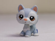 Littlest Pet Shop LPS #1930 Husky Ice Blue White w/ Brown Eyes