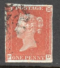 QV 1841 sg8  1d bright red brown plate  39 ( F D ) with Basal shift See NE star