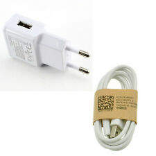 EU Plug White For Samsung Galaxy S4 Micro USB Data Cable+ Home Wall Charger XES1