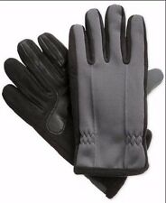 $175 ISOTONER MENS GRAY BLACK ACTIVE SMARTOUCH THERMAL SKI WINTER GLOVES SIZE XL
