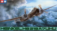 1/48th scale WWII Heinkel He219 Uhu model kit by Tamiya #61057
