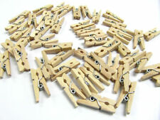 Mini Wooden Craft Pegs 25mm Natural Pack Of 100
