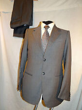 EMPORIO ARMANI (JOSH LINE) SMART DESIGNER GREY PINSTRIPE WORK SUIT UK 40 EU 50