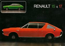 Renault 15 & 17 1972-73 UK Market Specification Brochure TL TS