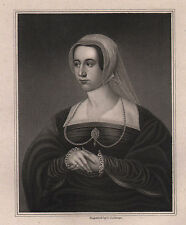 1829 GEORGIAN PRINT ~ QUEEN CATHARINE PAR ~