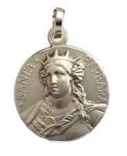 SAINT BARBARA - 925 STERLING SILVER MEDAL - FIND YOUR FAVORITE PATRON SAINT
