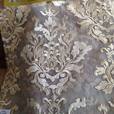 "Embroiderd Organza Lace In Rich Ivory Color Jacquard Designe 118"" 15 Yards"