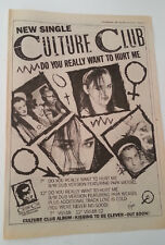 CULTURE CLUB Do U Want to Hurt Me 1982 UK Poster size Press ADVERT 16x12 inches