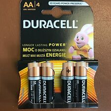 AA Duracell Alkaline Battery MN1500 / LR6 - Pack of 4 Batteries