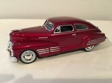"1948 Chevrolet Aerosedan Fleetline 1:24 Scale Die Cast Car  ""Candy Red"" With Box"