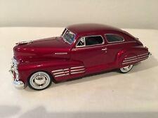 "1948 Chevrolet Aerosedan Fleetline 1:24 Scale Die Cast Car  ""Candy Red"" With Box"