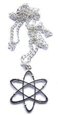 GORGEOUS HANDMADE ATOM CHEMISTRY SCIENCE  PENDANT WITH NECKLACE + FREE GIFT BAG