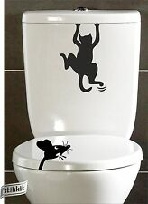 Scared Cat Mouse Rat Funny Sticker Decal Toilet Bathroom Wall Fridge Furniture