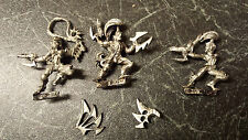 Warhammer 40k Dark Eldar Wyches x 3 - Metal - Stripped - OOP - 1 Arm Missing