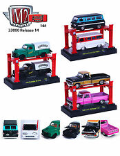 AUTO LIFT SERIES 14,SET OF 6 TRUCKS WITH LIFTS 1/64 BY M2 MACHINES 33000-14