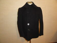 Vintage WWII NAVAL CLOTHING U.S NAVY Military 10-Button Kersey Wool Peacoat Sz-L