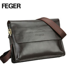 FEGER Fashion Mens Faux Leather Shoulder Messenger Bag Laptop Briefcase Satchel