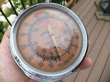 Vintage Airguide Jeweled Contralog Speedometer 0-50 MPH & 0-80 Kilometers